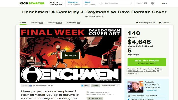 Henchmen - Kickstarter - Brian Wyrick